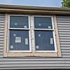 Exterior of master bedroom windows after caulking.