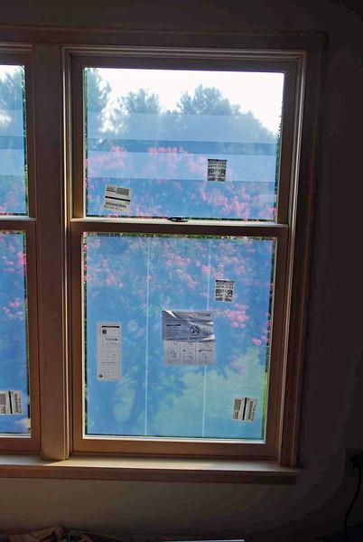 Master bedroom windows installed.
