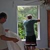 Demolition of dining room window.
