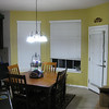 Breakfast nook with the new wall paint.  Eventually we will go all the way around the kitchen with this color.