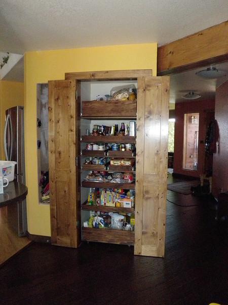 Fully open pantry doors