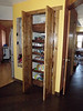 Pantry doors partially opened