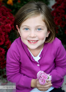 Addie in Flowers bw-