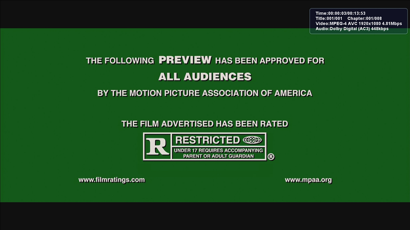 Screengrab of a ratings warning taken from Arcsoft Total Media Theater software, played at 1680x945 resolution.<br /> <br /> Using an NVIDIA 8800GT, with hardware acceleration disabled.