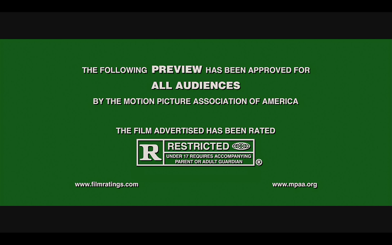 Screengrab of a ratings warning taken from Media Player Classic software, played at 1680x1080 resolution.<br /> <br /> Using Cyberlink h264 decoder, on an NVIDIA 8800GT with DXVA.
