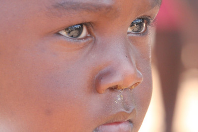 'Thoughtful Intensity' - This full frame picture of a student in Humani,Zimbabwe shows that eyes can literally speak volumes.