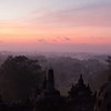 Break of dawn at Borobudur
