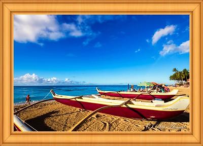 Beautiful Day At Waikiki Beach