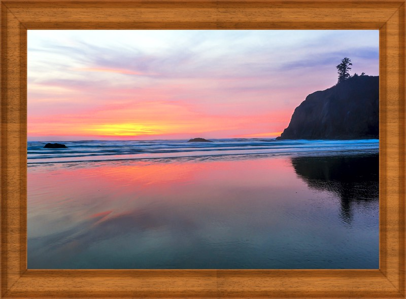 Ruby Beach In Sunset,Washington