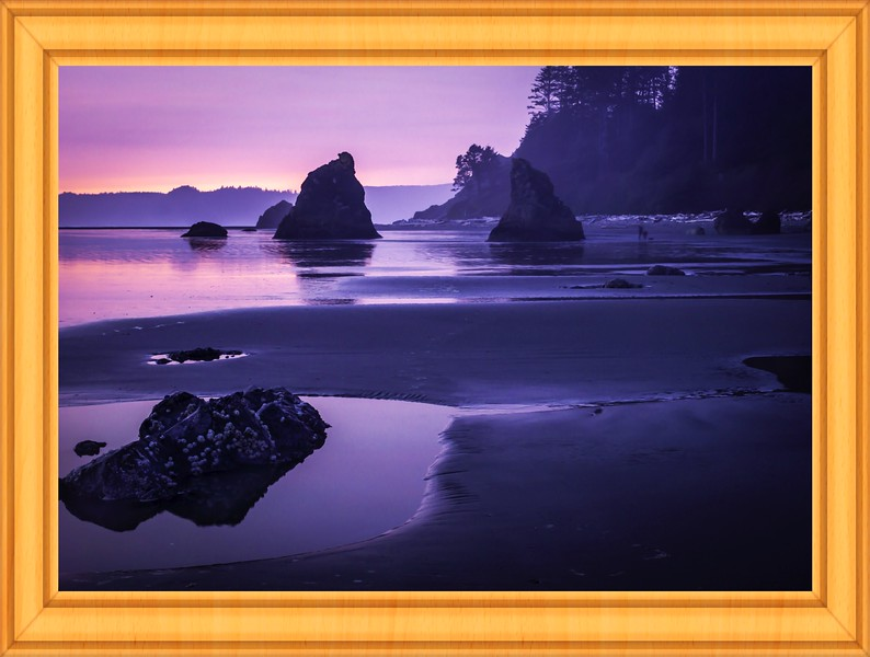 Sunset in ruby beach,WA