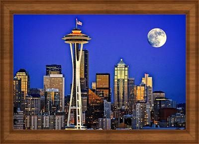Super Moon Over Seattle -Exposure