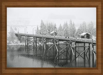 Winter morning in Valdez Pier,Alaska copy
