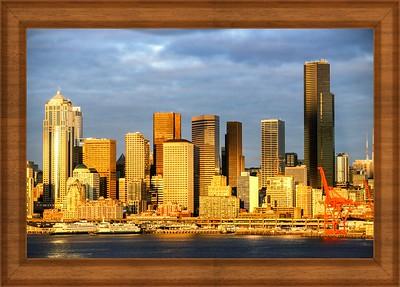Morning Lights In Seattle,WA