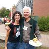 Karin Moller and Botany/Genetics Professor Al Rollins