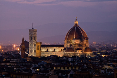 View of Florence skyline from Piazzale Michelangelo