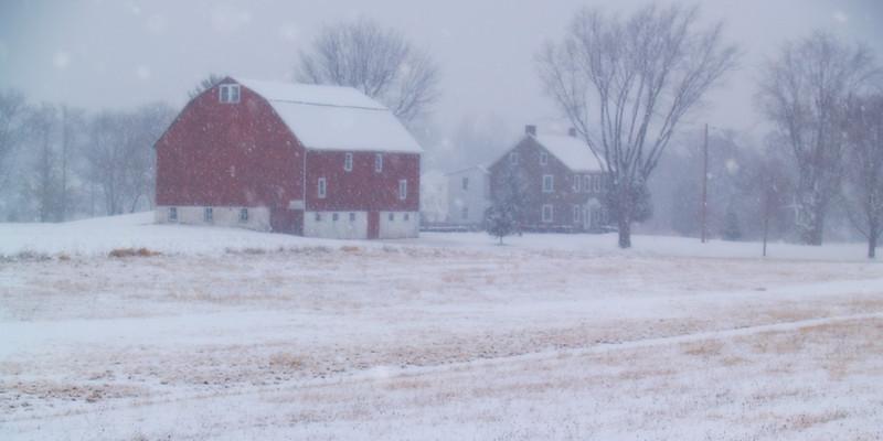 Quakertown Farm on Snowy Day