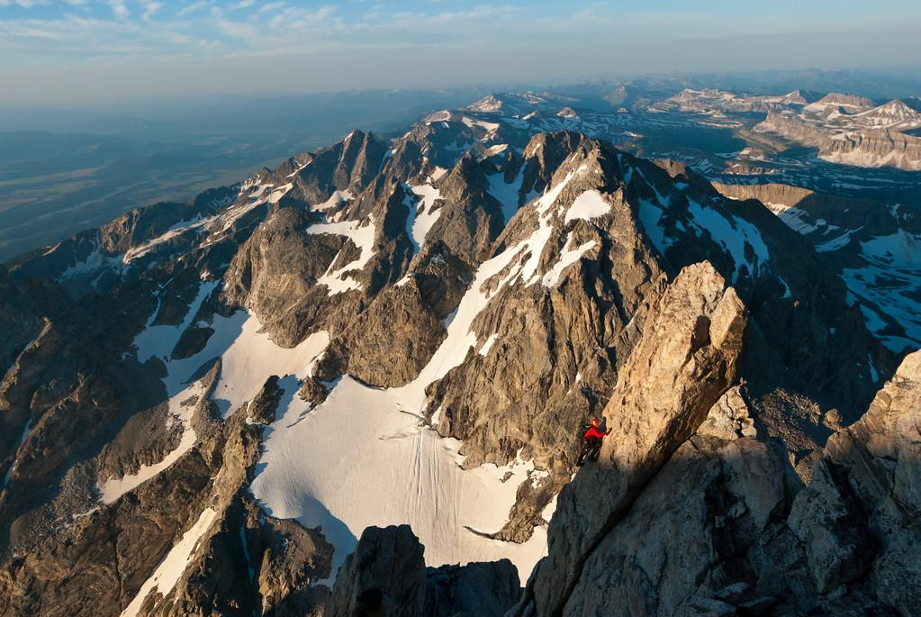 while ascendng the Grand Teton.