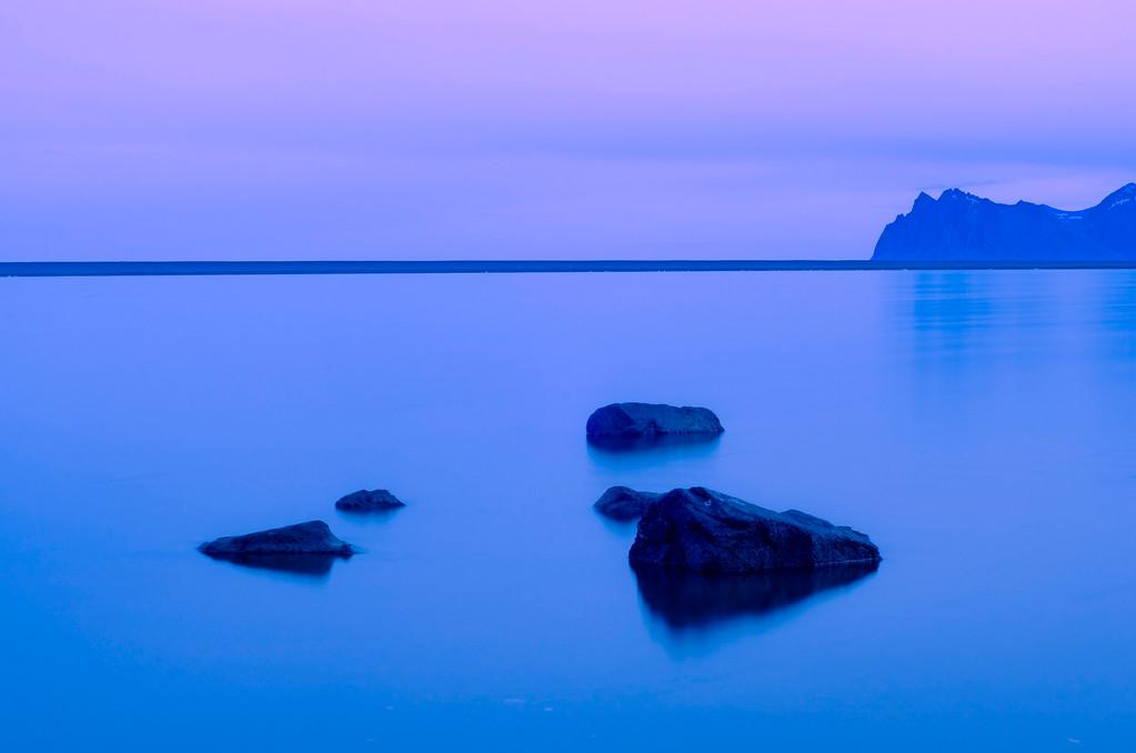 Coastal lagoon, east coast of Iceland.
