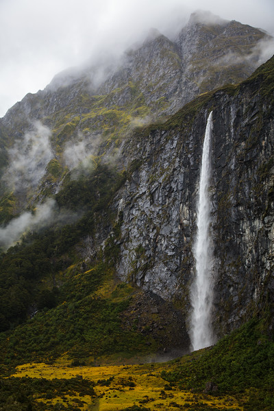 High Falls Rob Roy Glacier, New Zealand