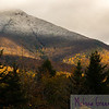 The seasons march onward at the base of Mount Liberty, at the southern end of Franconia Notch, and the mountains begin to wear their winter caps.