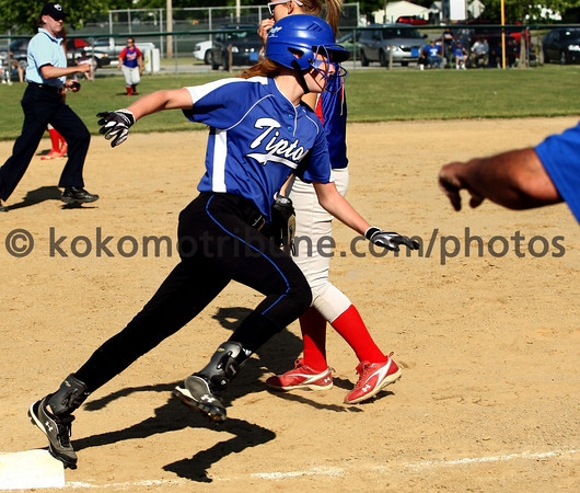 5-23-12<br /> Softball Sectional Tipton Vs Elwood HS<br /> Tipton's Mariah Kesterson rounds 3rd base heading in for the 4th run during the 4th inning.<br /> KT photo | Tim Bath