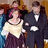 Peggy Whitney, left, portraying the wife of Ulysses S. Grant, and her husband, Scott Whitney, right, portraying the Eighteen President of the United States, dance in the Civil War Grand Ball held at the Effingham County Museum Saturday night in downtown Effingham. Charles Mills photo