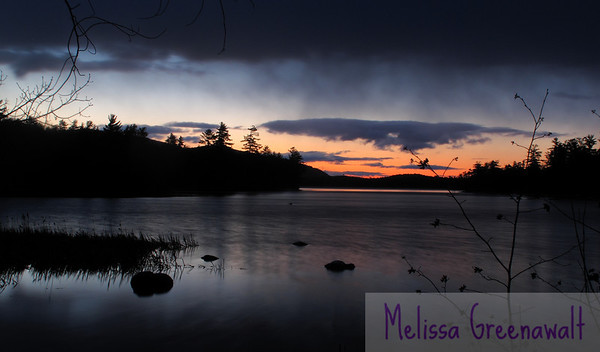 Sunrise on Squam Lake, late March.