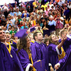 5-26-12<br /> Northwestern HS Graduation 2012 with about 130 students.<br /> After moving the tassels the graduates did a little dance number and threw their caps in the air.<br /> KT photo | Tim Bath