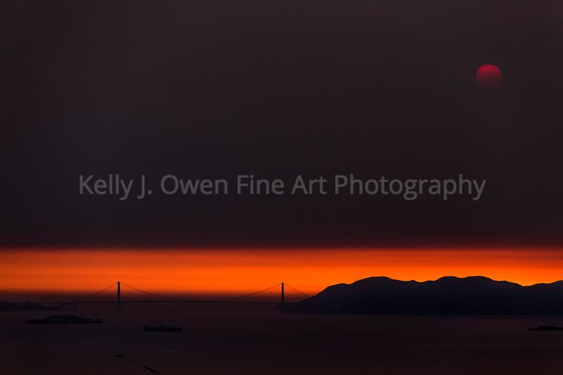 Golden Gate Fire Sky
