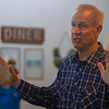 Gov. Bruce Rauner speaks during a campaign stop Wednesday at Karla's Down Home Diner in Greenup.<br /> Keith Stewart Photo