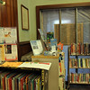 Allegra Boverman/Gloucester Daily Times. The Children's Room at Manchester Public Library is being completely renovated. Seasonal books are on display outside the normal entrance, which is blocked while the work is ongoing.