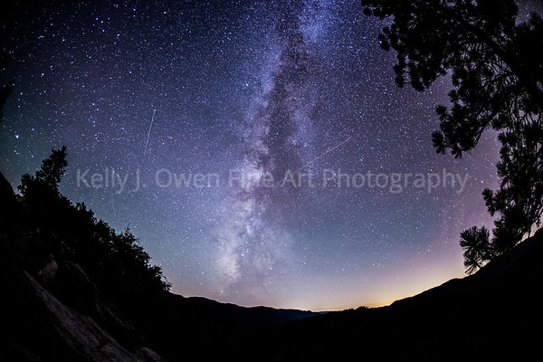 Milky Way Wawona Shooting Stars