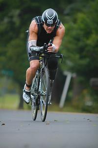 Jason Gunter cycling during Ironman Augusta 70.3