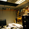 Allegra Boverman/Gloucester Daily Times. This office in the CATA Building, which houses many City of Gloucester offices, was damaged by water this week, as were many other parts of the building.