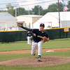 Teutopolis' Andrew Neibrugge delivers a pitch in the Class 2A Sectional Semifinals against Columbia on Wednesday, July 9, 2021, at Teutopolis High School, in Teutopolis, Illinois. (Alex Wallner/Effingham Daily News)