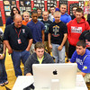 5-18-12<br /> Taylor HS art students put on display and demonstrated their art.<br /> KT photo   Tim Bath