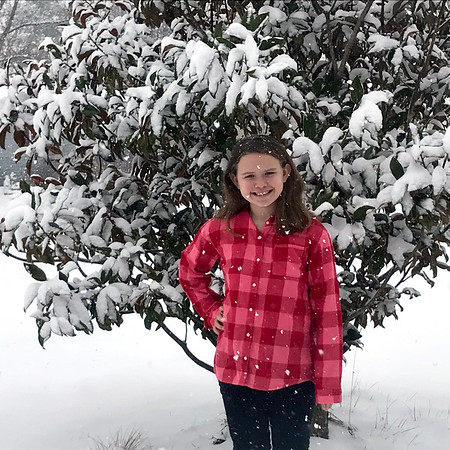 Mia Brabson in Altamont, where almost 9 inches of snow was reported.