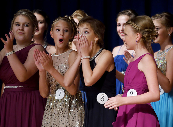 Elizabeth Weidner shows her surprise after being named the 2017 Junior Miss Effingham County Sunday evening at the Effingham County Fair.<br /> Chet Piotrowski Jr. photo/Piotrowski Studios