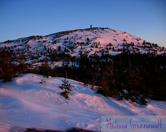 Winter glory on the summit of South Cardigan, Alexandria, NH.  Cardigan Mountain is one of the more popular hikes in Central New Hampshire.