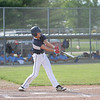 Teutopolis' Dylan Pruemer hits the ball in the Class 2A Sectional Semifinals against Columbia on Wednesday, July 9, 2021, at Teutopolis High School, in Teutopolis, Illinois. (Alex Wallner/Effingham Daily News)
