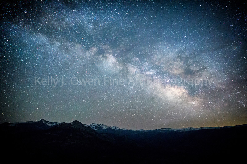 Snow Capped Southern Sierras Under Our Milky Way