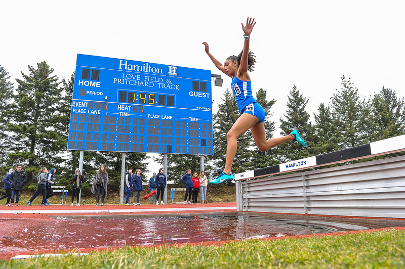 4/6/19 10:51:44 AM Track and Field: Hamilton College Outdoor Invitational at Pritchard Track, Hamilton College, Clinton, NY<br /> <br /> Photo by Josh McKee