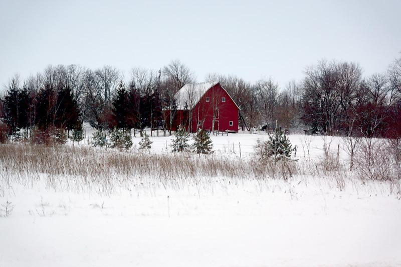 Red Barn near Monee, IL