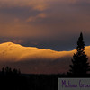 Mid-November alpenglow show on the Presidential Range, White Mountains, NH.