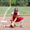 St. Anthony's Haley Niebrugge prepares to field a ground ball during a softball game against Marissa (Coulterville) in the Class 1A Super-Sectionals, Monday, June 14, 2021, at Johnston City High School, in Johnston City, Illinois. (Alex Wallner/Effingham Daily News)
