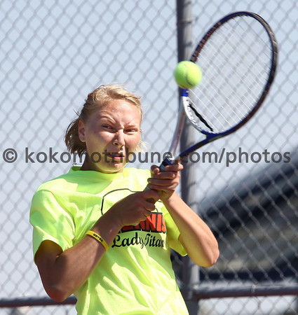 5-16-12<br /> Tennis Sectionals EHS vs Taylor, KHS vs Tipton<br /> Taylor's Taylor Fruth playing #2<br /> KT photo | Tim Bath