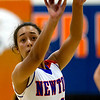 Newton's Ariel Richards shoots a free throw during a contest against Flora in the Bob Kerans Holiday Tournament.