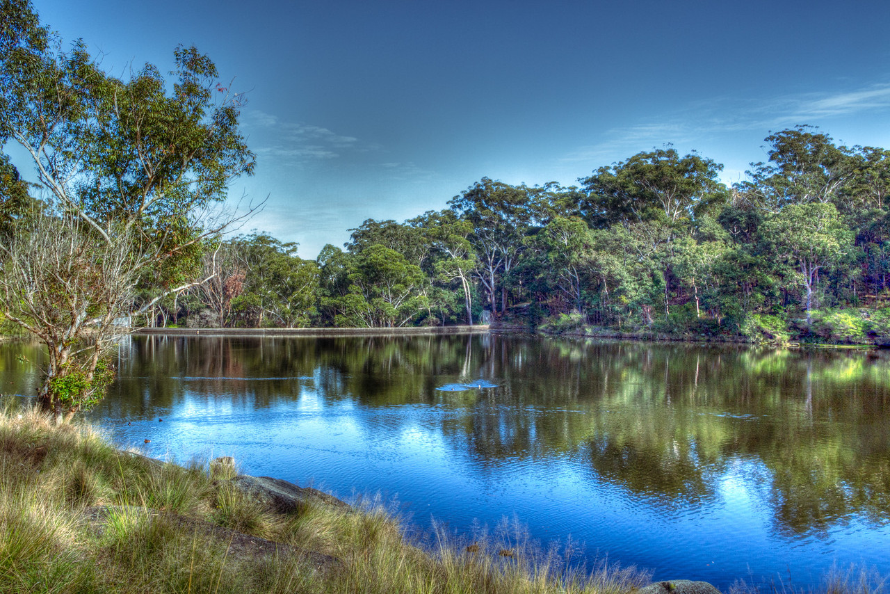 "Lake Parramatta, Australia<br /> ""several hours (may be) occupied in contemplating the natural beauties of the variegated scene, surrounded by the stately forest which protects it from the scorching summer sun, in the centre of it's valley, encompassed by stupendous rocks, a murmuring stream, delectable to the taste, meanders to the untaught notes of nature's feathered care, that charm the ear with wild irregularity. Here caverns open to the untouched tribe, whose far recess forbids the approach of rude and chilling winds"" (source unknown, as cited in James Jervis, 1938). (via <a href=""http://www.uprct.nsw.gov.au/water_quality/facts/lake_parramatta/history.htm"">http://www.uprct.nsw.gov.au/water_quality/facts/lake_parramatta/history.htm</a>)"
