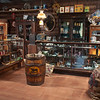 """The Longhorn Mercantile, A Place of Supply, boasts """"elixirs, millinery, haberdasher, clothing, firearms, ammo, footwear and dry goods."""""""