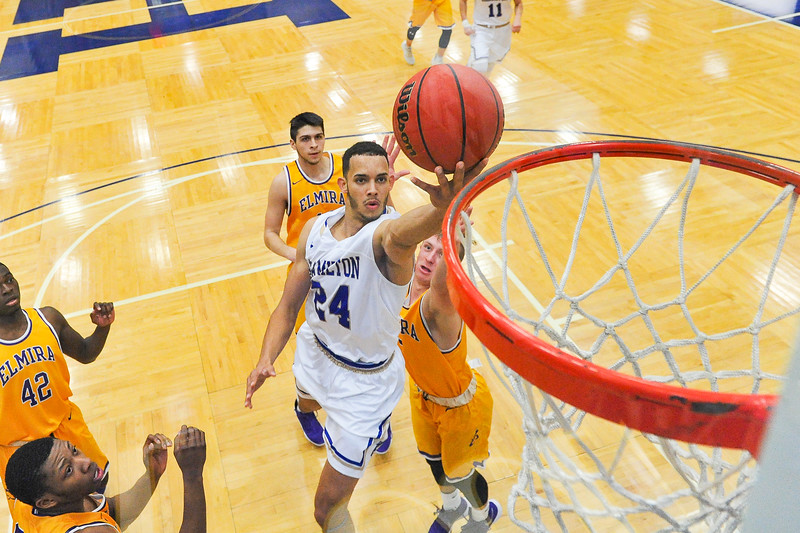 Hamilton College guard Kena Gilmour (24)<br /> <br /> 12/8/18 5:17:57 PM Men's Basketball: Elmira College v #4 Hamilton College at Margaret Bundy Scott Field House, Hamilton College, Clinton, NY<br /> <br /> Final: Elmira 67  #4 Hamilton 98<br /> <br /> Photo by Josh McKee